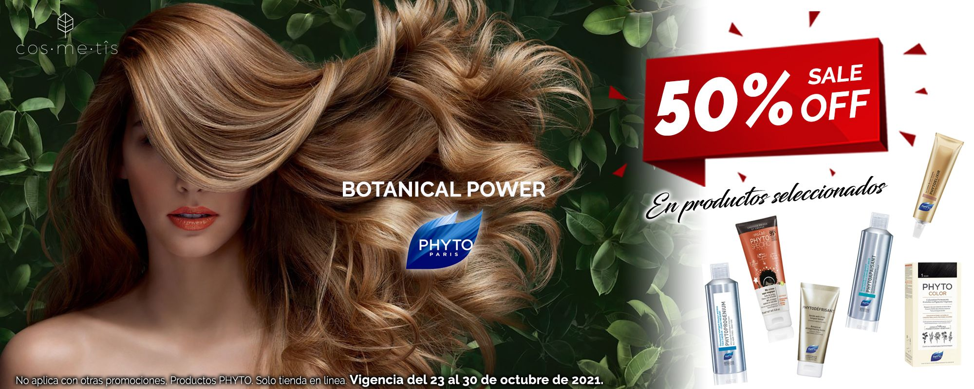 Banner Promo PHYTO 50 OFF